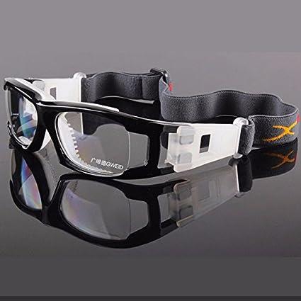 d73aa9a77b black   BATFOX Hot Men Football Basketball Protective Goggles PC Lens  Outdoor Sports Ski Glasses Myopic frame Prescription lenses Male   Amazon.in  Home   ...