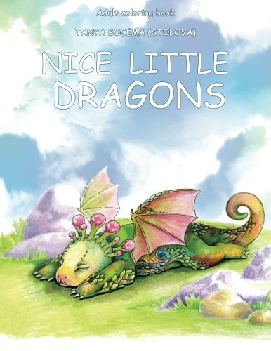 - Adult Coloring Book: Nice Little Dragons (Volume 1)