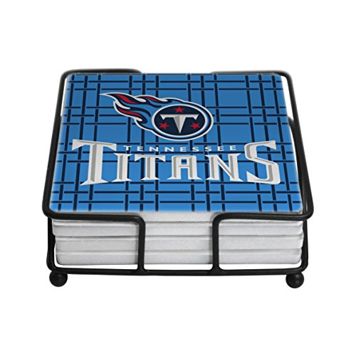 NFL Tennessee Titans Ceramic Geometric Coasters, Set of 4 (Titans Ceramic Nfl Tennessee)