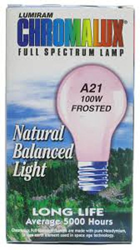 Chromalux H&PC-67531 Light Bulb Frosted Full Spectrum (100 Watt) 1 Count