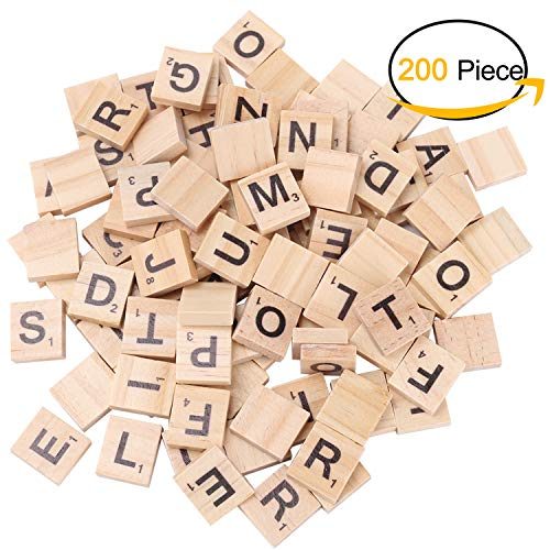 Scrabble Tiles for Crafts Wooden Letters Scrabble Letters Education Games and DIY Wood Tile Game Wall Decor All Ages