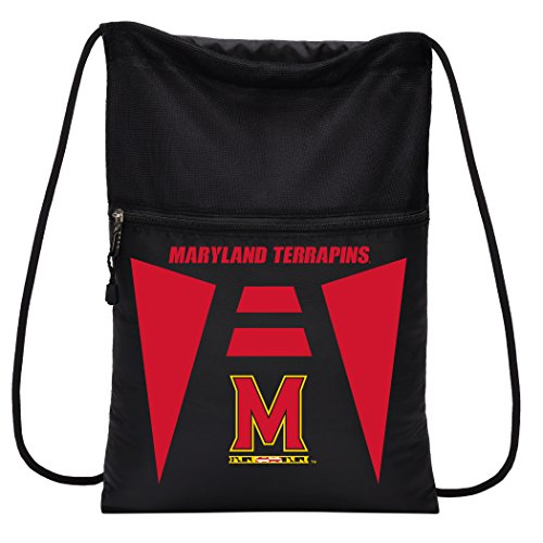 Officially Licensed NCAA Maryland Terrapins Team Tech Backpack Backsack, One - Terrapins Backpack Team Maryland