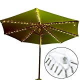 Patio Umbrella Lights, Koffmon 8 Lighting Mode 104 LED with Remote Control Umbrella Lights Battery Operated Waterproof Outdoor Lighting, for Patio Umbrellas/Outdoor Use/Camping Tents (Warm White)
