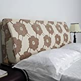 Vercart Sofa Bed Large Upholstered Headboard Filled Triangular Wedge Cushion Bed Backrest Positioning Support Pillow Reading Pillow Office Lumbar Pad with Removable Cover Mixed Color 71x20x4 Inches
