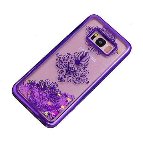 Vandot Funda para Samsung Galaxy S8 Plus Brillante Caso Shell, Ultrafino Fluido Líquido Cristal Caso Bling Arena Movediza Patrón TPU Silicona Cubierta de la Caja del Teléfono para Samsung Galaxy S8 Pl CH LS 09