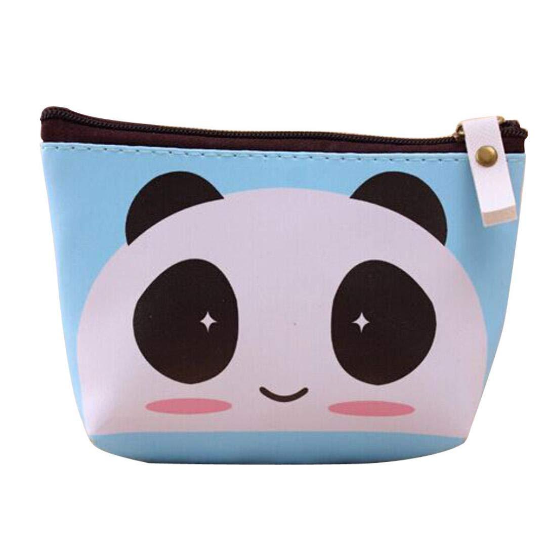 KFSO Pencil Bag,Cute Cartoon Bear Duck Panda Cute Pen Case Zipper Stationery Purse Coin Bag Cosmetic Bag Travel Bag (C)
