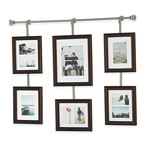 Wall Solutions 10 Piece Rod And Frame Set In Pewter Home Décor