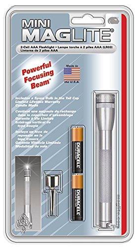 Maglite Mini - Linterna (Linterna de mano, Gris, Aluminio, Incandescente, AAA, Alcalino) 2
