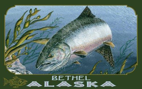 Northwest Art Mall Bethel Alaska Kelp King Salmon Artwork by Dave Bartholet, 11 by - Bethel Mall Park