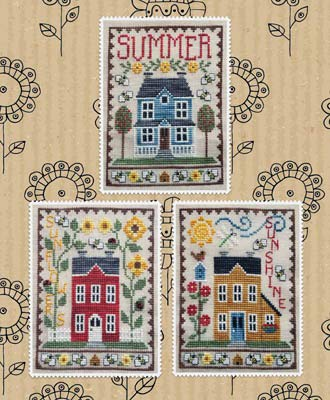 Summer House Trio Cross Stitch Chart