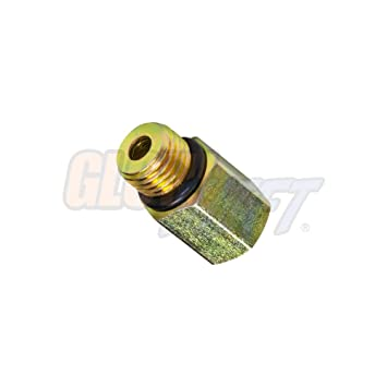 GlowShift Fuel Pressure Sensor Thread Adapter for 1999-2003 7 3L Ford F-250  F-350 Super Duty Power Stroke Diesel - Installs to The Fuel Filter Housing