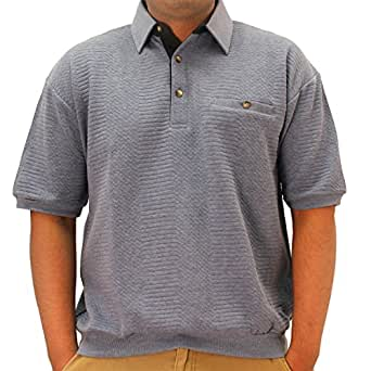 Classics By Palmland Solid French Terry Banded Bottom Polo