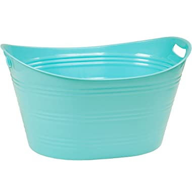 CreativeWare PTUB-PB, Powder Blue 8.5 Gallon Party Tub