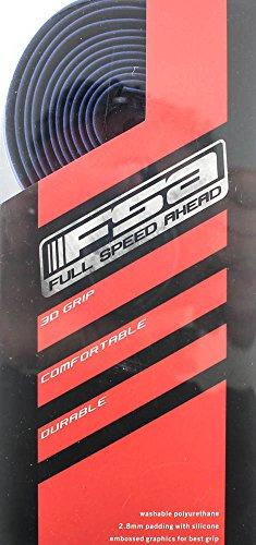 FSA GRT Road Drop Bar Bike Handlebar Tape w/ Plugs Cork Gel Blue 186-0027 NEW