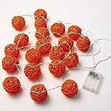 Handmade 20 LED Orange Rattan Ball String Lights - Best Reviews Guide