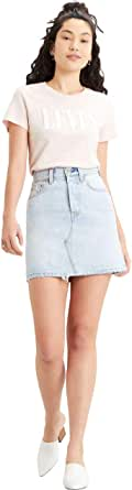Levi's High Rise Deconstructed Iconic Button Fly Skirt Falda para Mujer