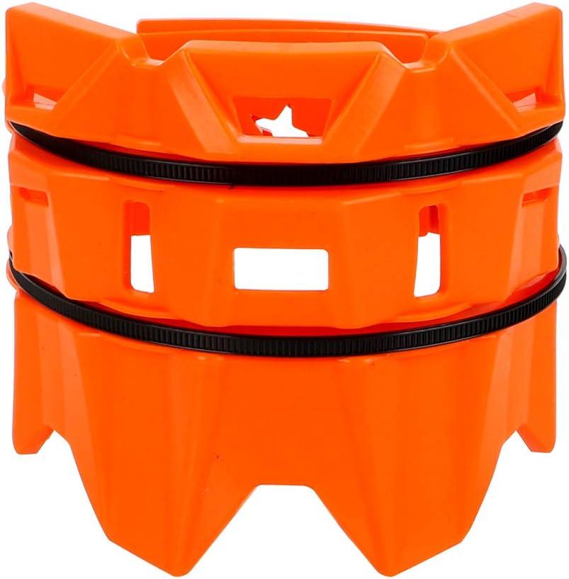 Protecteur de Tube de Queue d/échappement de Moto Protection de Tube de Silencieux Rouge