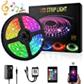 Led Strip Lights Ylcvbud 16 4ft 5050 Smd Rgb Rope Lights Color Changing Lights With App Controller Sync To Music Apply For Home Kitchen Bedroom Party Tv Decoration