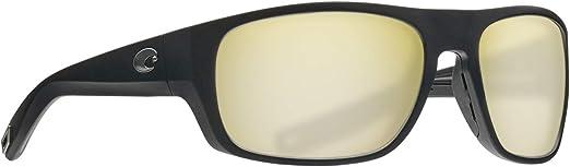 Costa Del Mar Tico Matte Black Sunrise Silver Mirror 580 Plastic Polarized Lens