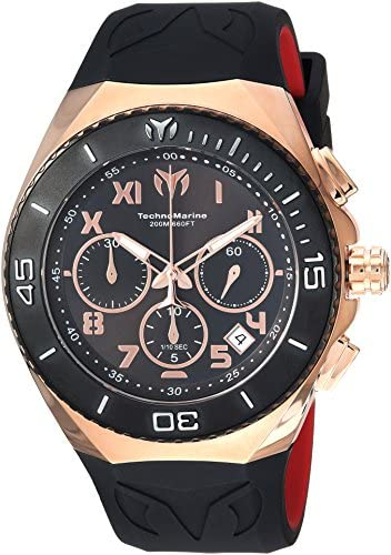 Technomarine Men s Manta Quartz Stainless Steel and Silicone Casual Watch