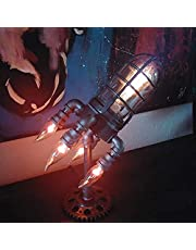Nattljus, LED-bordslampa, steampunk-raketlampa, raketlampa, retro, nattduksbord, steampunk lampa, sovrumsdekoration (24 x 16 cm)