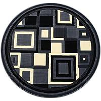 Modern Round Area Rug Design Gallery 26 Grey (5 Feet X 5 Feet) Round
