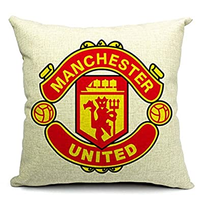 The World Football Club Manchester United Cotton Linen Throw Pillow Case Cushion Cover Home Sofa Decorative 18 X 18 Inch