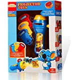 Quadpro Projector Flashlight Baby Sleep Animal Slide Show Stem Preschool Toys for Kids Toddler Toys for Boys and Girls(Blue&Yellow)