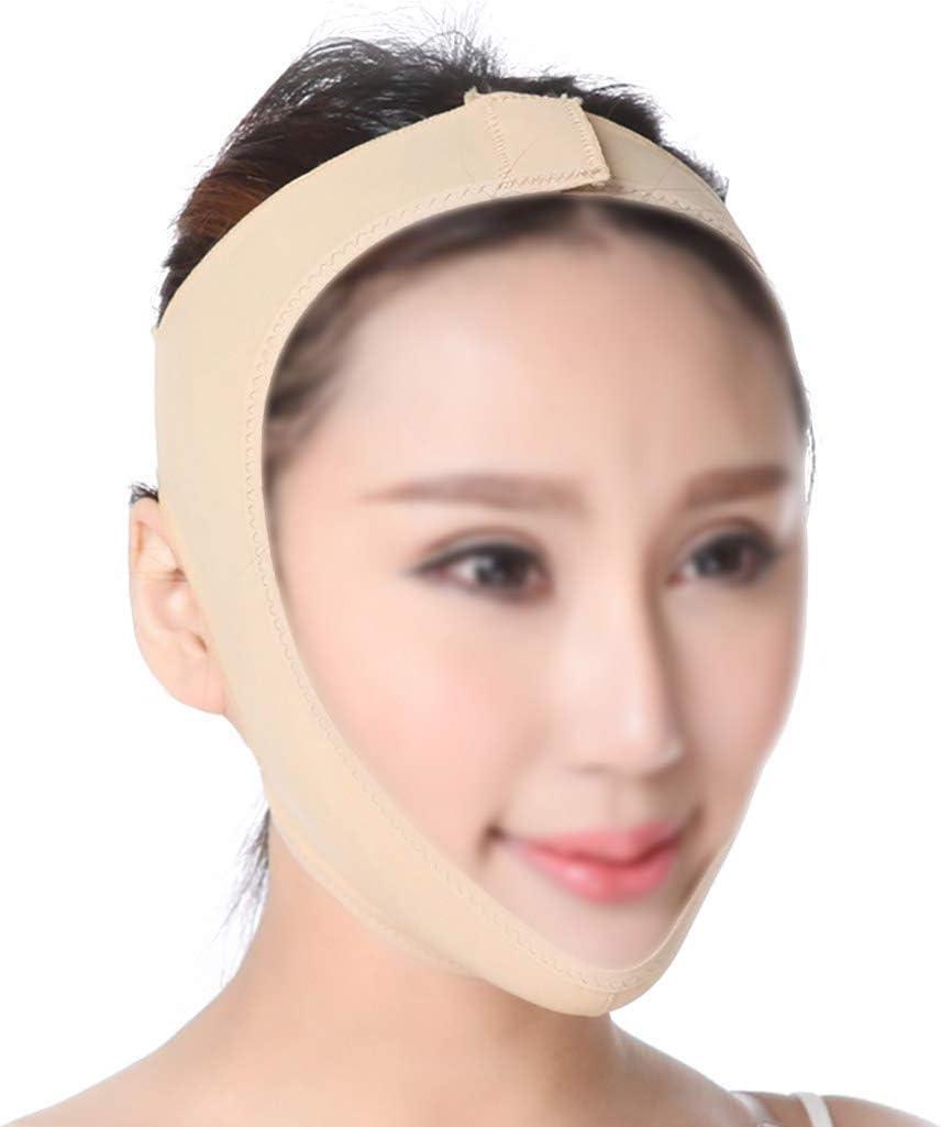 JMTLLMZ Lifting Facial, V Face Instrument Mascarilla Facial Máscara Reafirmante Masajeador Facial Manual Tono De Piel (Tamaño : S)