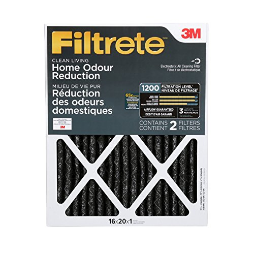 Furnace Air Cleaner Filter - Filtrete MPR 1200 16 x 20 x 1 Allergen Defense Odor Reduction HVAC Air Filter, Delivers Cleaner Air Throughout Your Home, Uncompromised Airflow, 2-Pack
