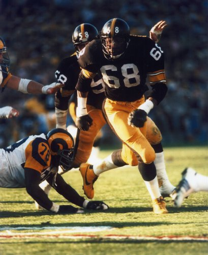- L.C. GREENWOOD PITTSBURGH STEELERS 8X10 SPORTS ACTION PHOTO (F)