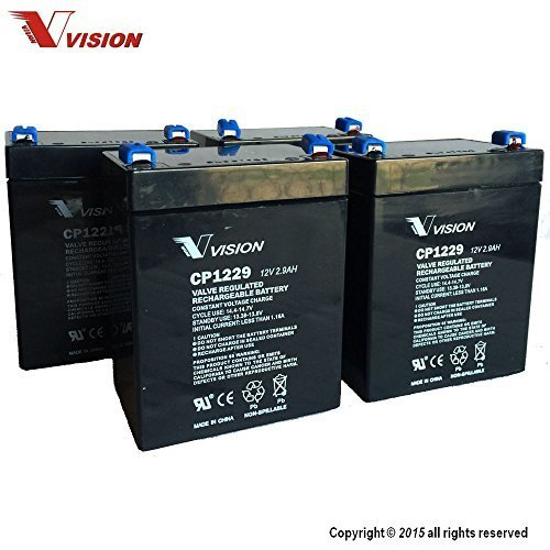 Price comparison product image Vision CP1229 F1,  SLA Battery (Original),  12V,  2.9AH,  F1 Terminal - 4 Pack
