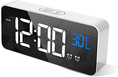 CHEREEKI Reloj Despertador Digital, Despertador Alarma Dual