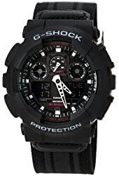 G-Shock GA-100MC Cloth Band Classic Series Men's Luxury Watch - Black/Grey / One Size