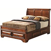 Glory Furniture G8850A-KB Storage Bed, King, Cherry, 6 boxes