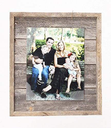 BarnwoodUSA Rustic Farmhouse Plank Picture Frame - Our 8.5x11 Picture Frame can be Mounted Horizontally or Vertically and is Crafted From 100% Recycled and Reclaimed Wood | No Assembly Required