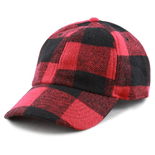 - The Hat Depot Unisex Wool Blend Baseball Cap Hat (Plaid #37)