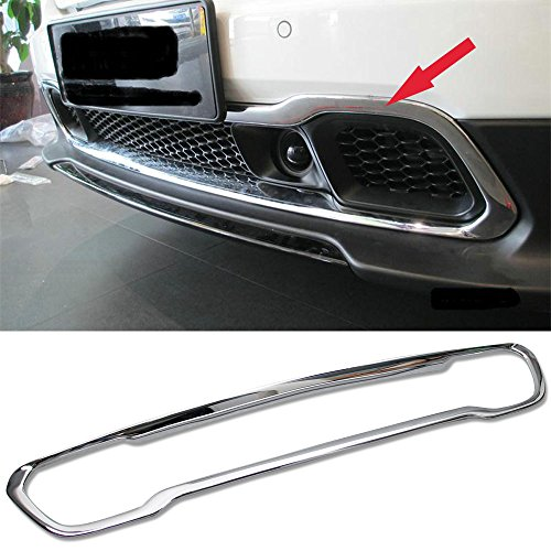 Chrome Front Grill Grille Cover Trim Fitw For Jeep Cherokee 2014