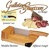 Traditional sausage guillotine slicer Toque Chef 100 % french handmade