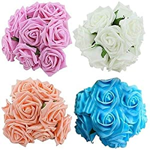 Anya Nana 10pcs. Fake Artificial Roses Flowers for Bouquet Wedding Party Occasions Table Decor 35