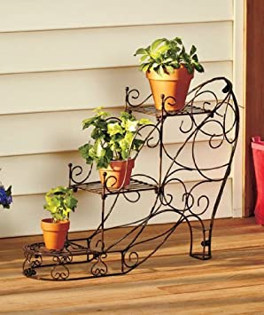 Decorative Fashionista Shoe Pumps Shape Metal Spring Plant Stand 3