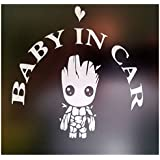 """""""Baby In Car"""" Waving Baby on Board Safety Sign Car Decal / Sticker/ Groot"""