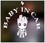 ''Baby In Car'' Waving Baby on Board Safety Sign Car Decal / Sticker/ Groot