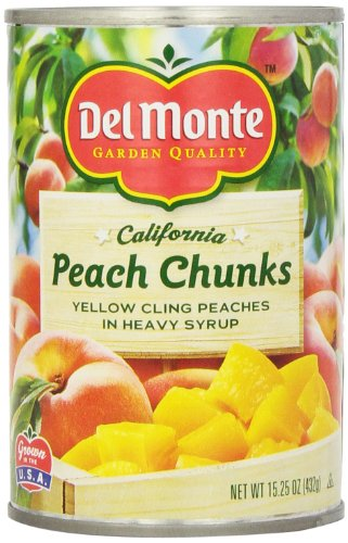 - Del Monte Peach Chunks Yellow Peaches in Heavy Syrup, 15.25-Ounce (Pack of 6)