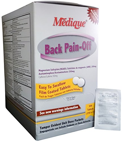 Back Pain-Off Pain Relief Acetaminophen Tablets - MS71295 (500)