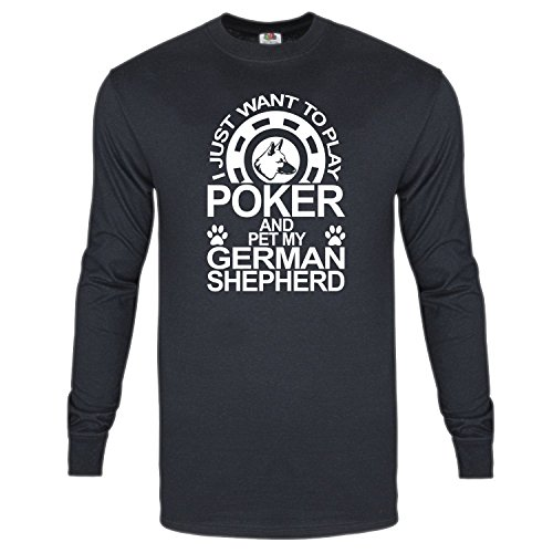 Play Dog Poker (I just want to Play Poker and Pet my German Shepherd dog T-shirt)