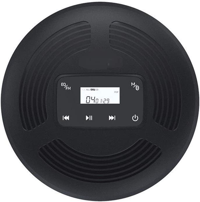 SHANG-JUN Radio CD903TF CD Reproductor de DVD HiFi Jugador Inicio Aprendizaje Inglés Educación Prenatal Máquina Walkman Radios Portátil Am FM (Color : Black)