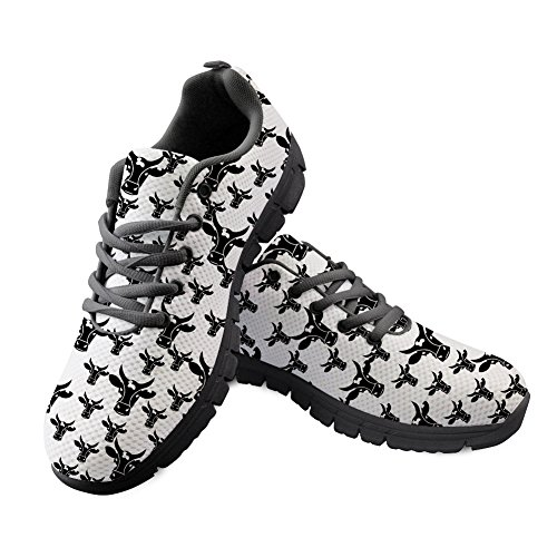 Shoes Bull Flat Running Dog Cat Pattern Sneaker Cute Girls Boys for Horse CHAQLIN n78Xx0gx
