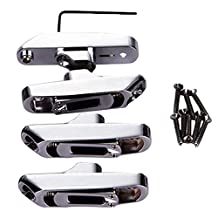 Dovewill Alloy 4 String Bass Bridge Tailpiece Luthier Tool Kit Instrument Parts DIY Music Lovers Gift