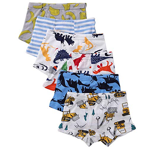 benetia Toddler Boys Underwear Soft Cotton 6 -Pack 4t 5t